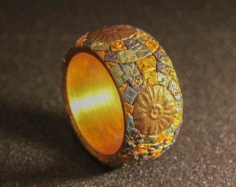 Boho Bracelet, Mosaic Bracelet, Bohemian bracelet, Gypsy bracelet, Ethnic Bangle, Boho Cuff bracelet , JuliaKuro