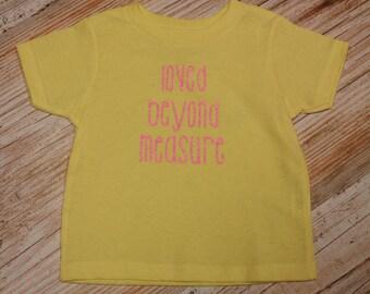Loved Beyond Measure onesie baby girl boy neutral shower gift newborn