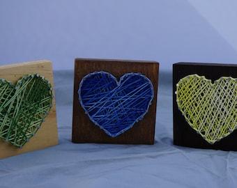 Multi Color String Art Heart Set