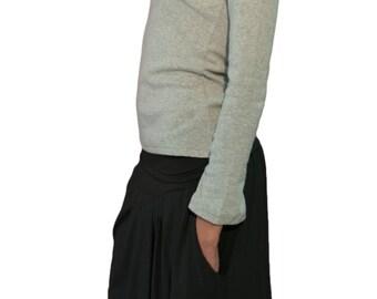 Long viscose skirt/ Jersey summer skirt/Maternity skirt