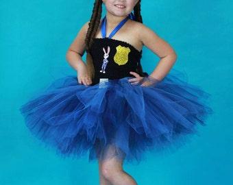 Judy hopps costume - Judy Hopps tutu dress - zootopia costume - police cop costume - bunny rabbit tutu dress - zootopia - birthday party