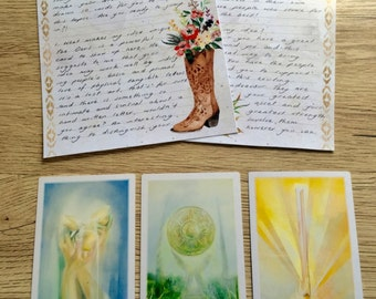 Mini 3 Card Hand-written Tarot Reading - Snail Mail Tarot Reading