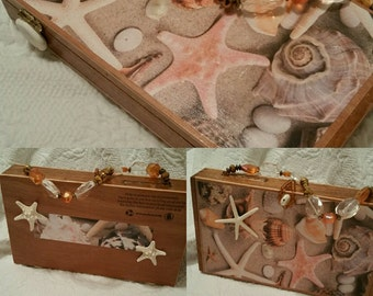 Seashell Cigar Box Purse by Jewelz