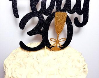 Flirty 30 Cake Topper