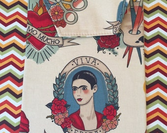 "Frida Kahlo ""Viva"" (long live) inspired Diaper Clutch."