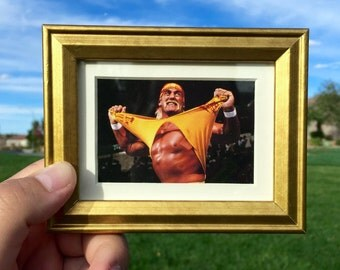 Hulk Hogan  - Mini Framed Art (FREE S&H)