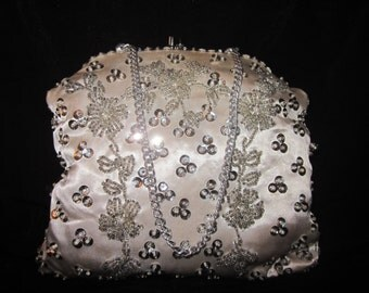 Stunning Ventiage Beaded-Sequin Evening Bag