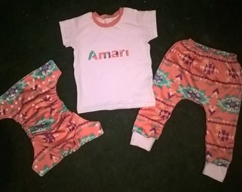 Personalized Outfit with Applique' Name