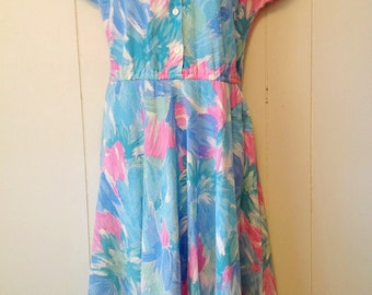 Vintage 80's floral cotton summer dress