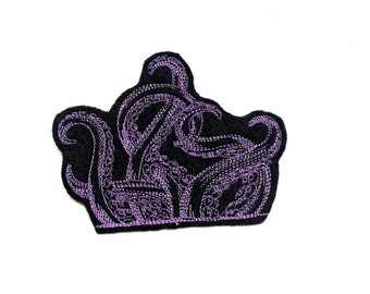 Purple Tentacles Pocket Topper Iron-On Patch