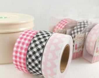 3 x 3, 5m Ribbon Washi tape for scrapbooking, card making, decoration, decorating