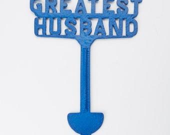 Colehaus Designs Greatest Husband Cemetery Decoration Grave Memorial Ornament