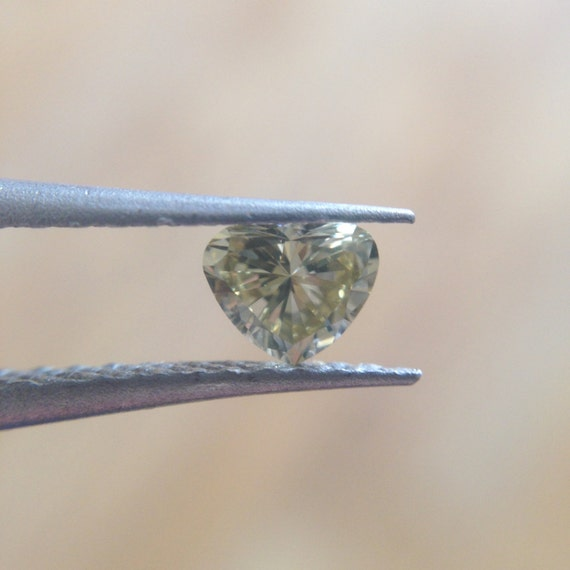 Champagne Diamond Heart Shaped Ring