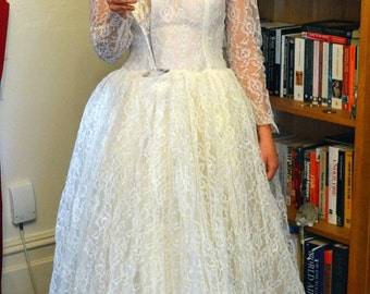1960s Full Lace Gown