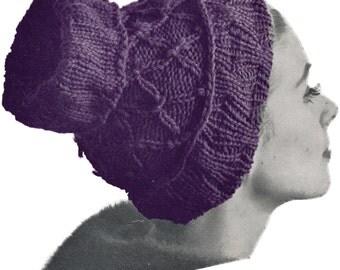Vintage Knit Open Crown Hat Pattern