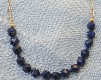 Gold and Lapis Necklace