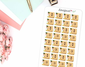Grocery planner stickers, grocery bag planner stickers, grocery bag stickers,  stickers, D0006
