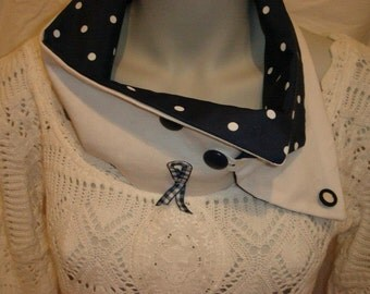 Accessory woman, collar, Navy and white collar