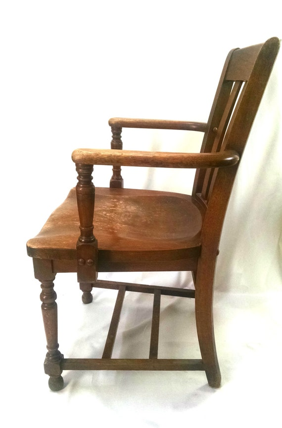 Wood Arm Chairs For Office ~ Antique vintage wood arm chair by tarnishedhalostudio on etsy
