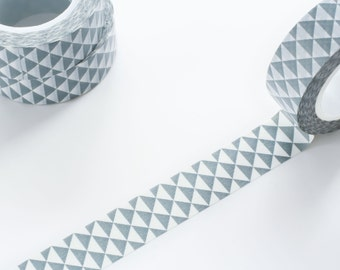 Grey Triangle Washi Tape 15mm/ Masking Tape/ Deco Tape