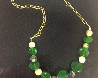 Jade and serpentine necklace