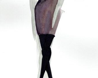 PRINT of Pink Dress Illustration