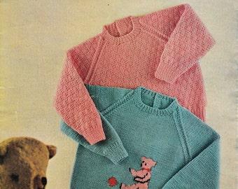 Toddler Jumpers Knitting Pattern Toddler Sweater Knitting Pattern Childrens Top Knitting Pattern DK 4-Ply Knitting Pattern Digital PDF CP027