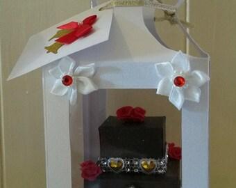 3D Chocolate, Wedding cake card.Birthday card,Anniversary card,A Special occasions Keepsake.