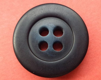 10 buttons black dark blue 18mm (1600) button