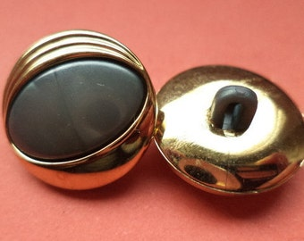 12 buttons grey gold 16mm 18mm (5313 5312) button