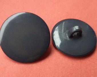 10 dark grey buttons 15mm (175) button