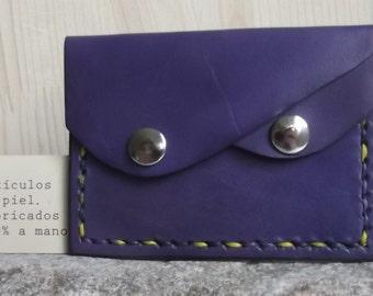 Purple Leather purse holder