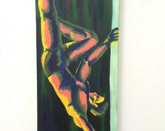 Pole Dancing Oil Painting
