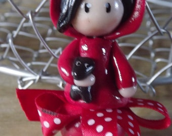 Keyring bag Red Riding Hood with his Wolf