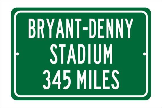 Custom College Highway Distance Sign to Bryant-Denny Stadium | Home of the Alabama Crimson Tide | Personalized Distance to Bryant-Denny
