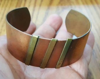 CLOSEOUT VINTAGE brass hand crafted  bracelet
