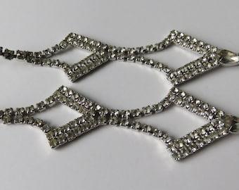 Vintage Rhinestone Earrings Chandelier Earrings Rhinestone Earrings 1950's Earrings Vintage Jewelry Costume Jewelry Rhinestone Jewelry
