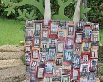 Balcony-handmade woven gobelin bag copyright, design balconies of Lisbon