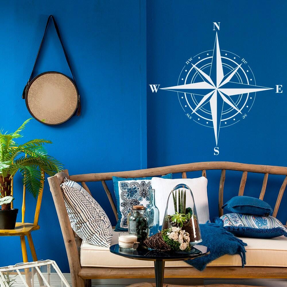 Compass Rose Decal Nautical Home Decor Nautical Compass Wall