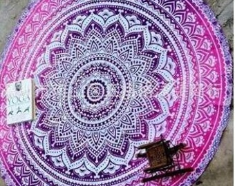 Purple Ombre Beach/Picnic Blanket