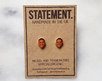 Barack Obama President Head Stud Earrings - 1 pair