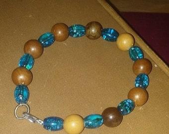 Summery beachy themed bracelet
