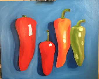 Group of Chili Peppers