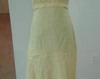 Vintage 70's yellow maxi dress