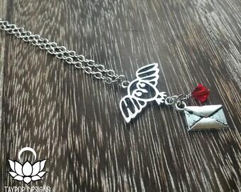 Hogwarts Acceptance Letter Harry Potter Inspired Owl Charm Necklace - Hogwarts House Necklace