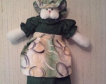 Mousey Green Bag Holder
