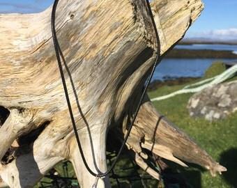 Hebridean beach combed crockery pendant