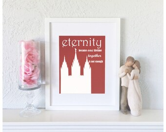 50th Anniversary Gift Idea - First Anniversary Paper Gift - Salt Lake Temple Art - LDS Temple Picture - Anniversary Gift for Parents