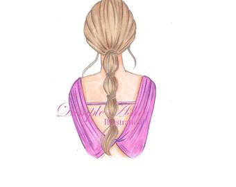 fashion illustration,fashion illustration print,illustration,custom illustration,fashion art,fashion,art,sketch,drawing,girly,cute,pretty