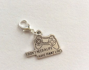 X box , playstation charm , gamer charm , xbox controller charm , gamer jewelery , cute charms , clip on charm , bracelet , necklace charm